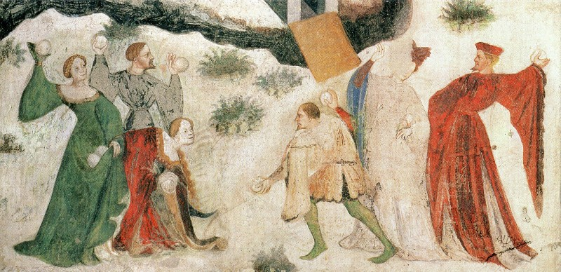 snowball fight c.1400
